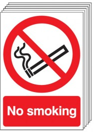 No Smoking Signs - 6 Pack SSW0155