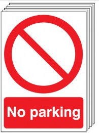 No Parking Signs - 6 Pack SSW0153