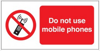 Do Not Use Mobile Phones Photoluminescent Signs SSW0115