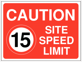 15 mph Speed Limit Construction site Sign SSW0015