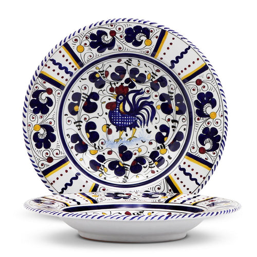 ORVIETO BLUE ROOSTER: Rim Pasta Soup plate