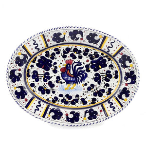 ORVIETO BLUE ROOSTER: Serving Oval Platter