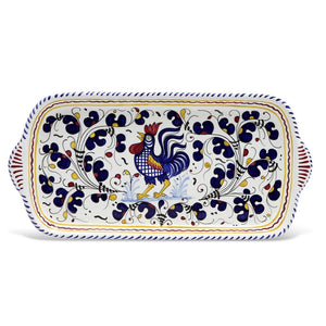 ORVIETO BLUE ROOSTER: Rectangular Tray