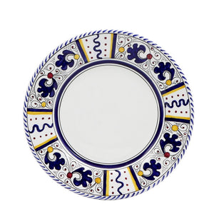 ORVIETO BLUE ROOSTER: Salad Plate (White Center)