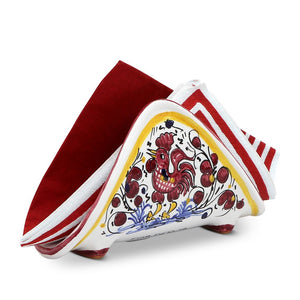 ORVIETO RED ROOSTER: Napkin Holder