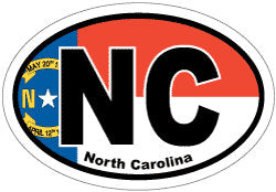 NC North Carolina Flag Window | Car | Decal | Sticker | Vinyl