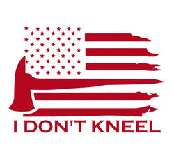 I DONT KNEEL American Flag Window | Car | Decal | Sticker | Vinyl