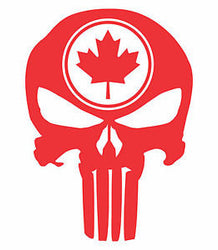 Canada Flag Punisher Maple Leaf | Skull Rear Helmet | Decal | Sticker | Vinyl