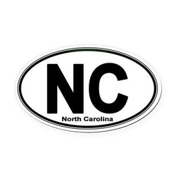 NC North Carolina State| Oval | Decal | Sticker | Vinyl