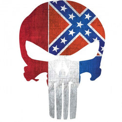 Mississippi Flag Punisher Skull | Decal | Sticker | Vinyl