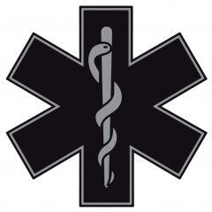 EMS Star of Life Window | Car | Decal | Sticker | Vinyl (Multiple Colors)