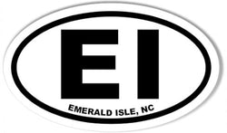 EI Emerald Isle North Carolina NC | Oval | Decal | Sticker | Vinyl