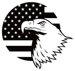 Bald Eagle USA FLAG Proud American Support | Decal | Sticker | Vinyl