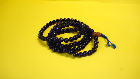 Small Purple Assorted Lapis Glass Mala.