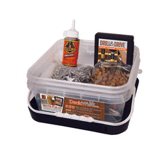 Deckwise Master Plug Kit, Includes Drill Bit and Glue (Smooth Plugs)
