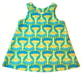 Caterpillar Dress - Spring Green