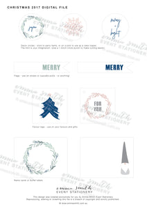 Emma Smith Event Stationery Christmas 2017 Digital File