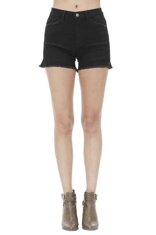 Kancan Black Fray Hem Shorts