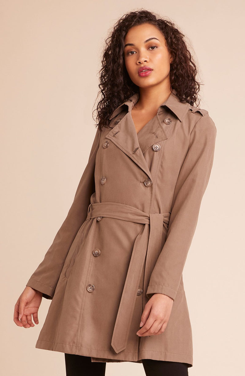 JACK by BB Dakota Undercover Walnut Trenchcoat