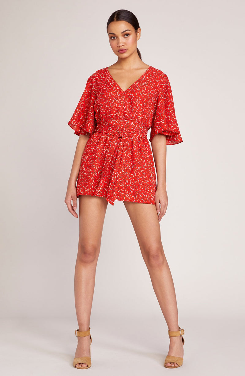 JACK BY BB DAKOTA SPRING BREAKER POPPY ROMPER