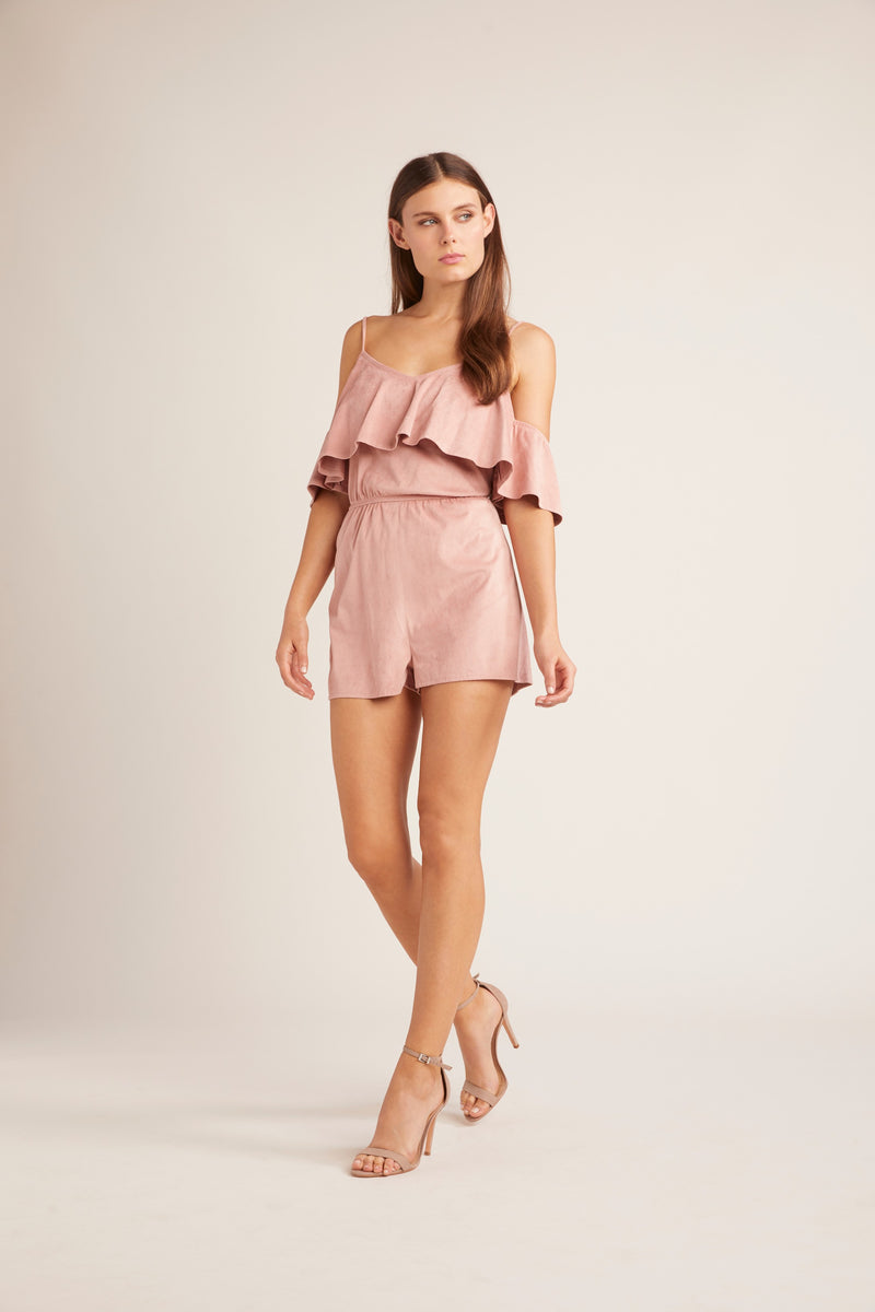 JACK BY BB DAKOTA Suede Into You Romper