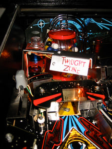 Twilight Zone Pinball Custom lamp shape with red lenses.