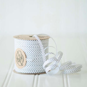 Black Swiss Dot - Cotton Curling Ribbon