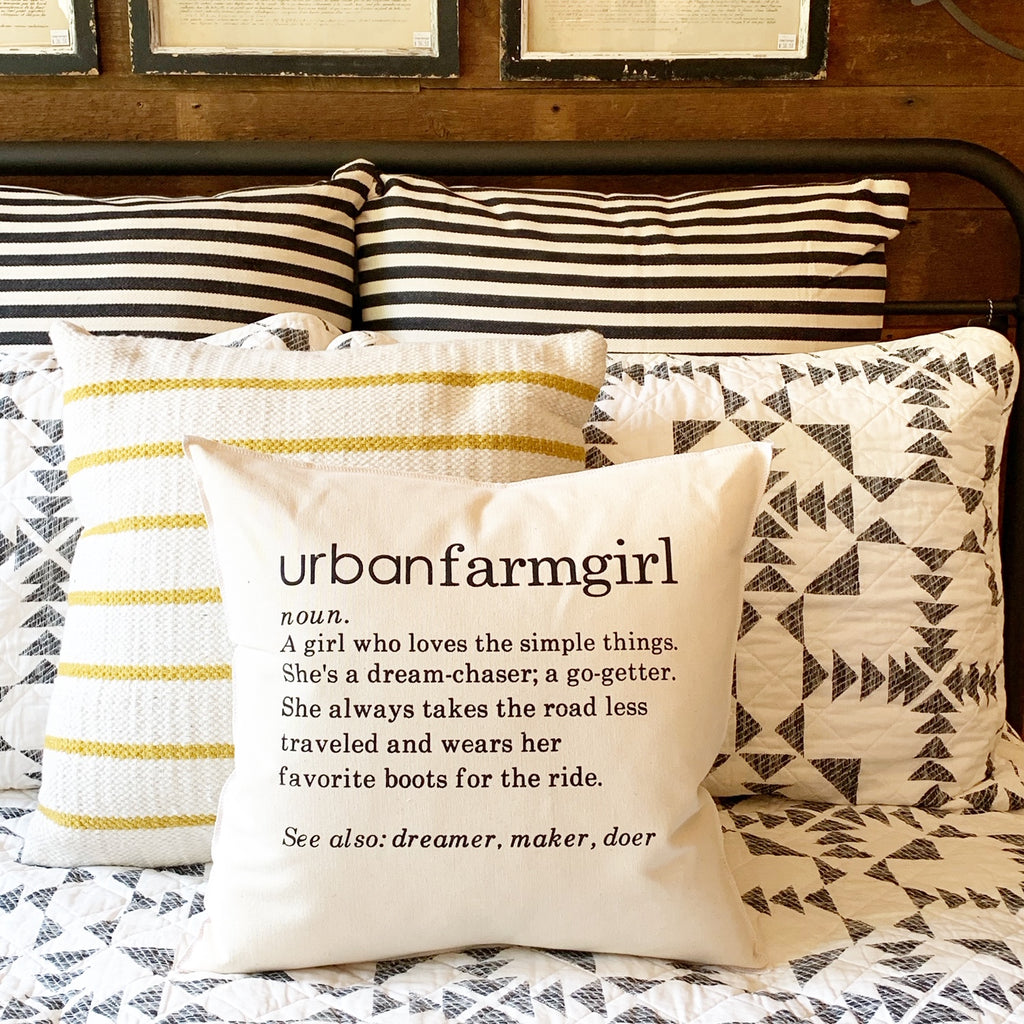 Urban Farmgirl Definition Pillow