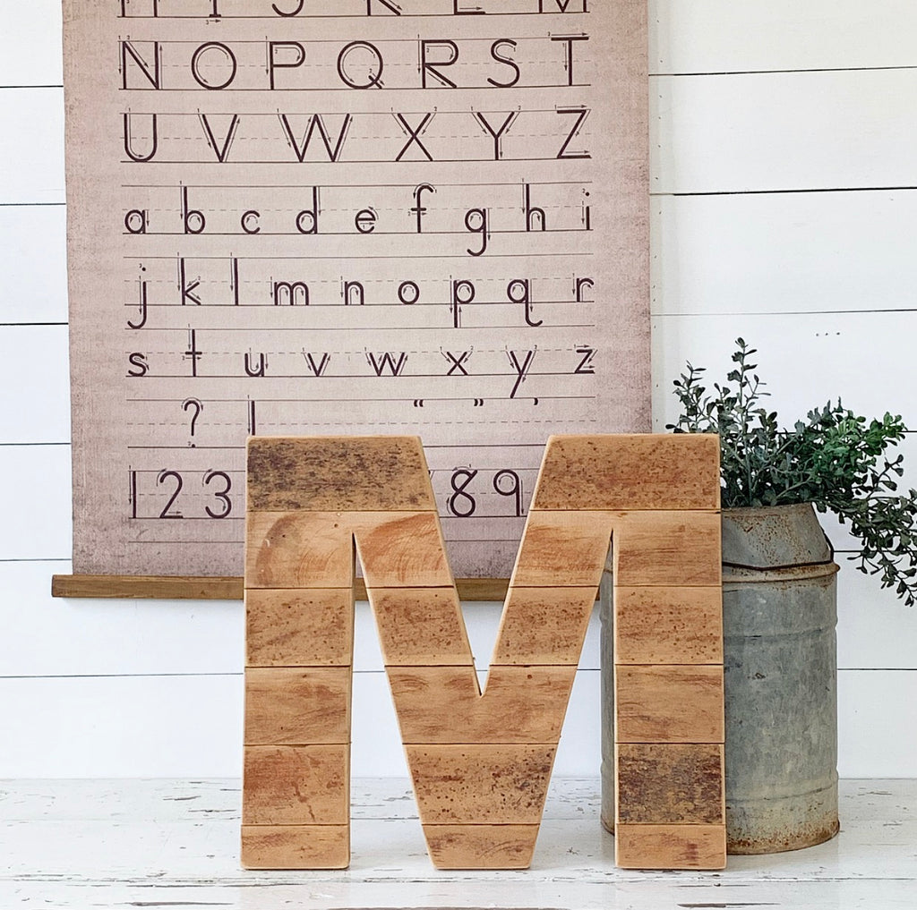 Salvaged Wood Letters