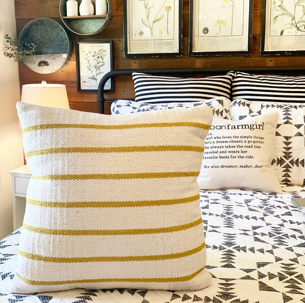 Mustard Stripe Pillow