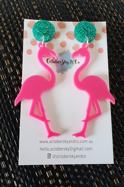 Flamingo Flo Dangles Version 2.0 - CHOOSE COLOUR