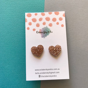 Mini Heart Studs - CHOOSE COLOUR