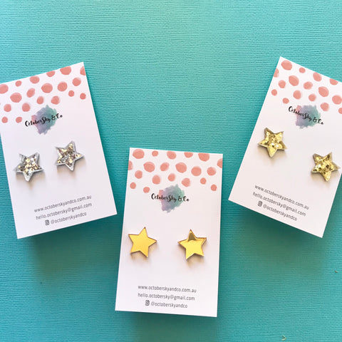 Mini Star Studs - CHOOSE COLOUR