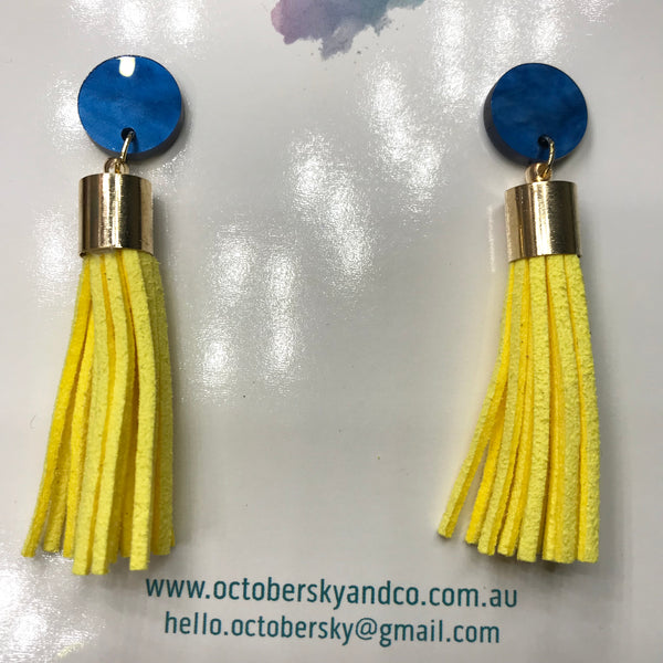 AFL WA Club West Coast Eagles Tassel Earrings