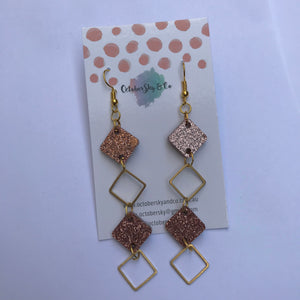 Diamond of Virgo Mini Dangles - CHOOSE COLOUR