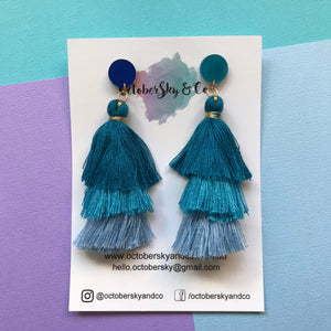Waterfall Tassel Dangles - CHOOSE COLOUR