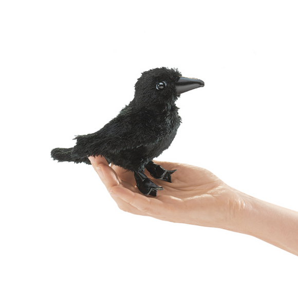 mini Raven - Finger Puppet