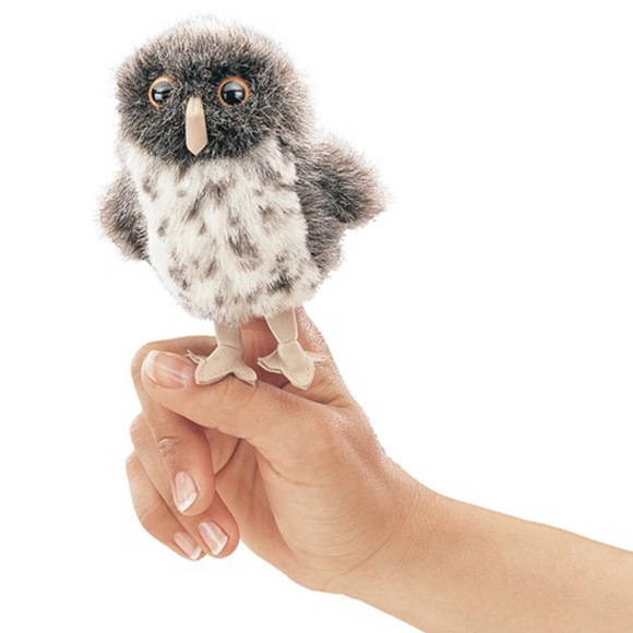 mini Spotted Owl - Finger Puppet