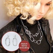 Hollow Cross Pendants Necklaces Double Layers Circle Chain Necklaces With Earing