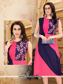 AC55332 - Pink and Violet Color Georgette Kurti