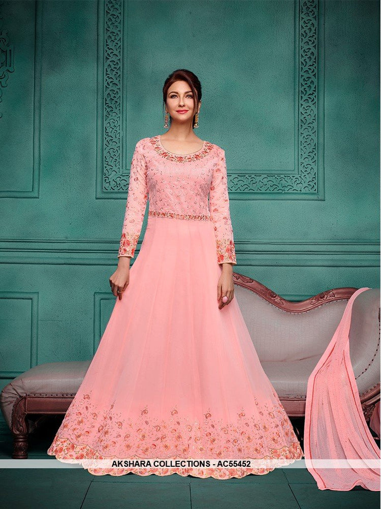 AC55452 - Baby Pink Color Georgette Anarkali Suit
