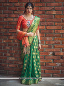 AC55809 - Green Color Banarasi Art Silk Saree