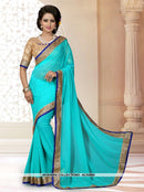 AC55955 - Green Color Georgette Saree