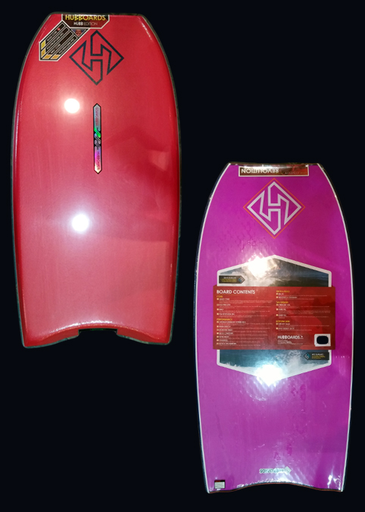Hubboards Hubb PP Pro 42'' Polypro Crescent Tail Bodyboard, Red/Purple