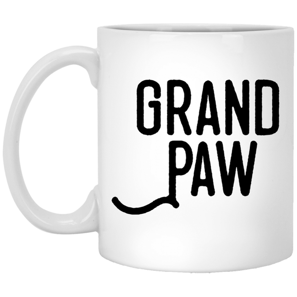 Grand Paw 11 oz. White Mug
