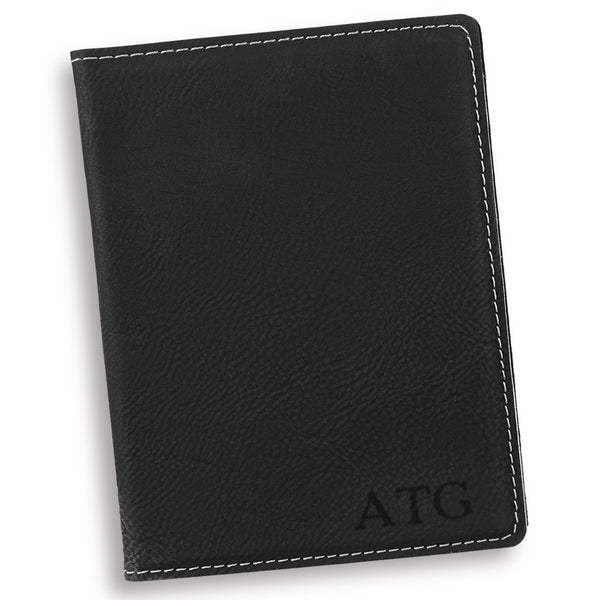 Personalized Black Passport Cover - Way Up Gifts