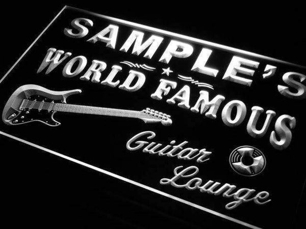 Personalized Guitar Lounge Bar LED Neon Light Sign - Way Up Gifts