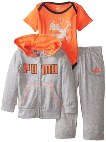 BOYS PUMA 3 PIECES SET (3M-24M) GREY