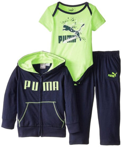 BOYS PUMA 3 PIECES SET (3M-6M) NAVY