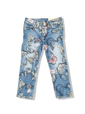 GIRLS BUTTERFLY JEANS BY GAP- (2-5)YRS
